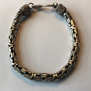 Other - Sterling Silver rounded box chain bracelet.